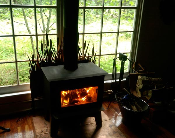 Wood Stove Safe Next To Wall Of Windows Small Cabin Forum 1